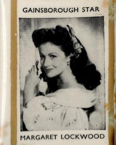 Matchbook holder featuring Gainsborough star Margaret Lockwood