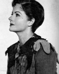 Publicity photograph of Margaret Lockwood as Peter Pan in the eponymous play from 1949