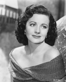 Margaret Lockwood (as Marissa Menzies) in a photograph from Trouble in the Glen (1954)