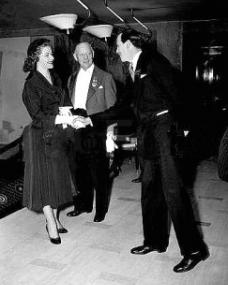 Margaret Lockwood meets the Duke of Devonshire