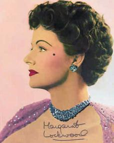 Autographed colour picture of Margaret Lockwood