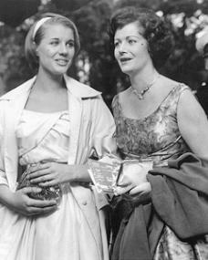 Julia Lockwood and Margaret Lockwood attend a film premier in Leicester Square, London