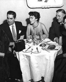 Margaret Lockwood and guests at a dinner party in the 1940s