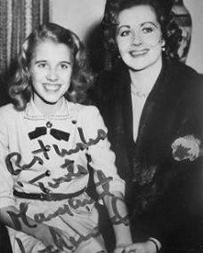 British actress Margaret Lockwood holds hands with her daughter, Julia Lockwood
