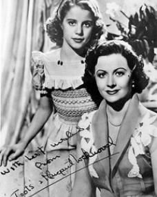 Autographed photo of Toots (Julia Lockwood) and Margaret Lockwood