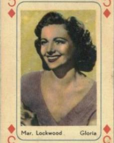 Playing Card featuring Margaret Lockwood as the three of diamonds