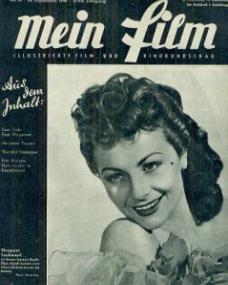 Mein Film magazine with Margaret Lockwood.  9th September, 1948, issue number 9.  (German)