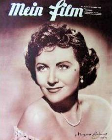 Mein Film magazine with Margaret Lockwood.  1950, issue number 33.  (German)
