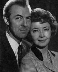 Michael Denison and Dulcie Gray, British actor and actress – and in private a loving couple – pose together for a photograph
