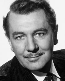 British actor Michael Redgrave in a moustachioed publicity photograph