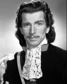 Michael Rennie, British actor, in a moustachioed publicity shot for the Gainsborough Pictures film, The Wicked Lady (1945)