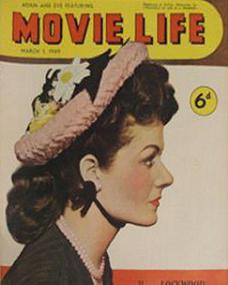 Movie Life magazine with Margaret Lockwood.  1949.