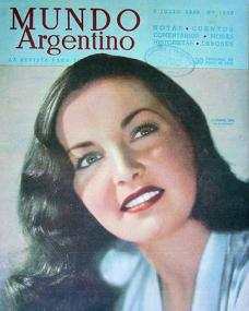 Mundo Argentino magazine with Patricia Roc.  (Argentine)