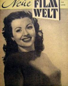 Neue Film Welt magazine with Margaret Lockwood.  1948, issue number 4.  (German)