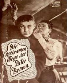 Neues Film Programm magazine with Alec Guinness in Father Brown.  (German).  Die seltsamen Wege des Pater Brown.