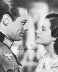 Rex Harrison (as Gus Bennett) and Margaret Lockwood (as Anna Bomasch) in a photograph from Night Train to Munich (1940) (1)