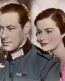 Rex Harrison (as Gus Bennett) and Margaret Lockwood (as Anna Bomasch) in a photograph from Night Train to Munich (1940) (14)