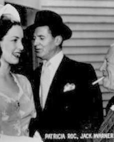 Photo of Patricia Roc with actors Jack Warner and Edward Rigby