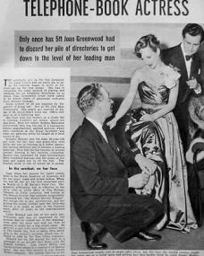 People magazine with Joan Greenwood.