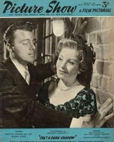 Picture Show magazine with Dirk Bogarde and  Margaret Lockwood in Cast a Dark Shadow.  8th October, 1955.