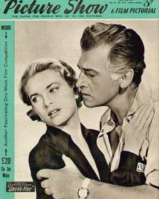 Picture Show magazine with Grace Kelly and  Stewart Granger in Green Fire.  1955.