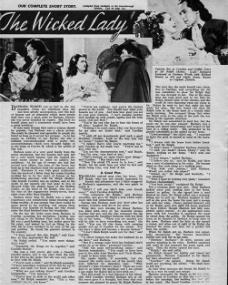 Picture Show magazine featuring The Wicked Lady.  26th January, 1946.