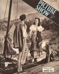 Picture Show magazine with Dennis Price and  Margaret Lockwood in Hungry Hill.  8th February, 1947.