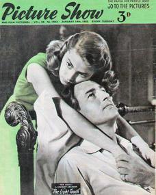 Picture Show magazine with Pier Angeli and  Stewart Granger in The Light Touch.  January, 1952.