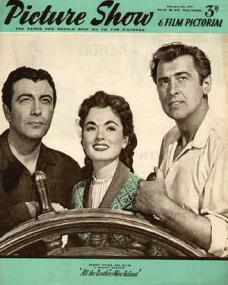Picture Show magazine with Robert Taylor, Ann Blyth, and  Stewart Granger in All the Brothers Were Valiant.  1954.