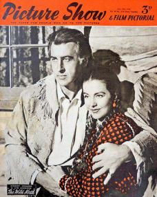 Picture Show magazine with Stewart Granger and  Cyd Charisse in The Wild North.  1952.