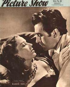 Picture Show magazine with Valerie Hobson and  Stewart Granger in Blanche Fury.  March, 1948.