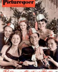 Picturegoer magazine with Derek Farr, Helen Cherry, Joan Greenwood, Richard Todd, Audrey Hepburn, and Phyllis Calvert.  December, 1950.  Picturegoer Christmas Party.