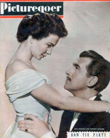 Picturegoer magazine with Jean Simmons and  Stewart Granger in Adam and Evelyne.  June, 1949.