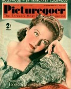 Picturegoer magazine with Margaret Lockwood.  July, 1939.  Hollywood – by Margaret Lockwood.  The screen's most popular magazine.