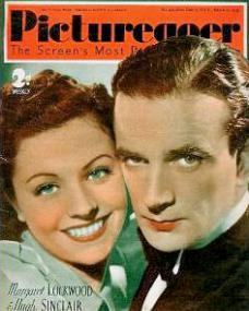 Picturegoer magazine with Margaret Lockwood and  Hugh Sinclair in A Girl Must Live.  March, 1939.