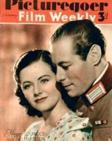 Picturegoer magazine with Margaret Lockwood and  Rex Harrison in Night Train to Munich.  August, 1940.