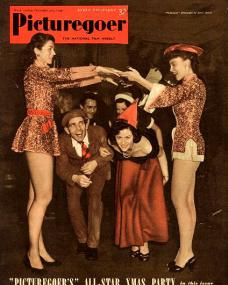 "Picturegoer magazine with Norman Wisdom and  Margaret Lockwood.  20th December, 1952.  ""Picturegoer's"" All-Star Christmas Party."