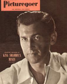 Picturegoer magazine with Stewart Granger in King Solomon's Mines.  December, 1950.