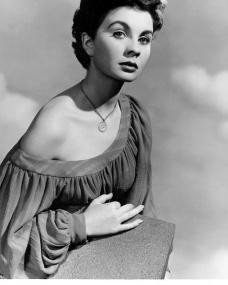 A card of Jean Simmons in the Picturegoers Gallery series from the J. Arthur Rank Organisation