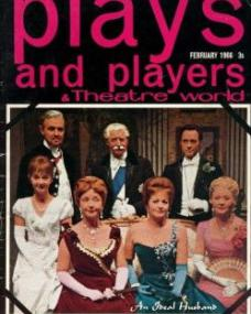 Plays and Players magazine with Margaret Lockwood in An Ideal Husband.  February, 1966.