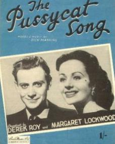 Derek Roy and Margaret Lockwood in sheet music from The Pussycat Song (1948) (1)