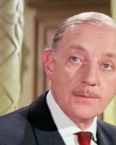 Screenshot from The Quiller Memorandum (1966) (1) featuring Alec Guinness as Pol