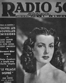Radio 50 magazine with Patricia Roc.  28th October, 1950, issue number 314.  (French)