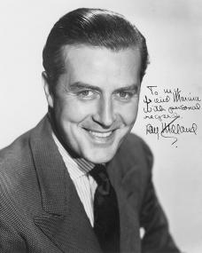 Paramount Pictures publicity photo from 1948, featuring British actor Ray Milland