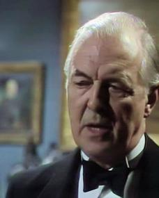 Screenshot from the 1982 'The Red Signal' episode of The Agatha Christie Hour (1982) (1) featuring Michael Denison