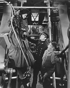 Margaret Lockwood (as Mary Shaw), Douglas Fairbanks Jr (as David 'Davie' Gillespie) and Will Fyffe (as John Shaw) in a photograph from Rulers of the Sea (1939) (27)