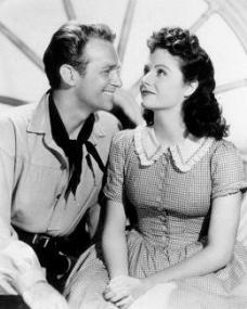 Douglas Fairbanks Jr (as David 'Davie' Gillespie) and Margaret Lockwood (as Mary Shaw) in a photograph from Rulers of the Sea (1939) (5)