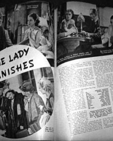 Screen Romances magazine featuring The Lady Vanishes.  December, 1938, volume 18, issue number 115.