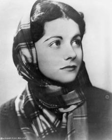 Margaret Lockwood wraps up in a shawl