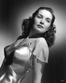 Patricia Roc wears a sheer top in a 1946 publicity photo for Universal Pictures